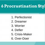6 procrastination styles