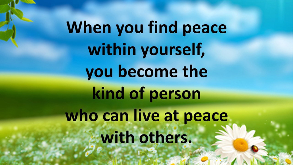 Image result for finding peace within