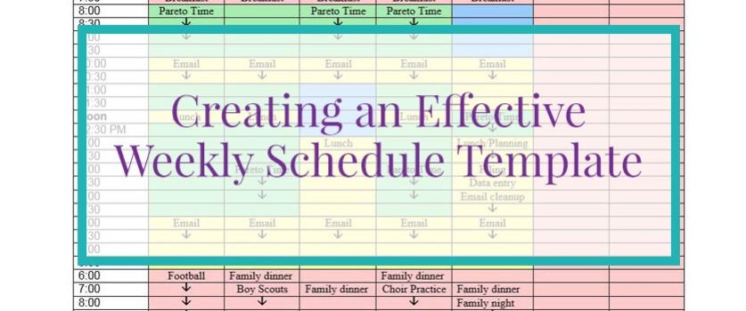 Weekly Schedule Template Archives  Paauwerfully Organized